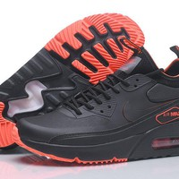 "Nike Air Max 90 Ultra Mid Winter ""Black&Orange"" Men Running Shoes Sneaker 924458-300-002"