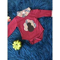 New Fall Two Layered Cotton Turkey Body Boys Onesuit