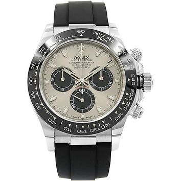 Rolex Oyster Perpetual Cosmograph Daytona 18K White Gold Men's Chronograph Watch 116519LN
