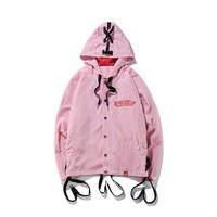 Windbreaker jacket new autumn and winter strap jacket men and women couple models Europe and the United States high street