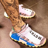 Pharrell X Adidas NMD Human Women Men Fashion Running Sport Casual Shoes Sneakers