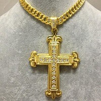 Boys & Men Fashion Hip Hop Cross Necklace