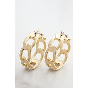 Chain Hoop Link Earrings