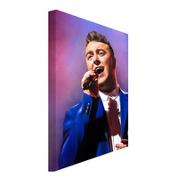 FREE SHIPPING: Sam Smith Portrait Canvas Art Painting