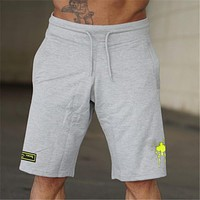 New Mens Joggers Fitness Shorts Sportswear Short Pants Summer Gyms Bodybuilding Workout Male fashion trendCasual Shorts