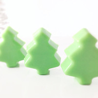 Christmas Tree Soap - Set of 6 - Christmas Soap, Stocking Stuffer, Holiday Soap Favor, Party Favor