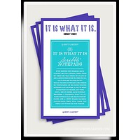 It Is What It Is Scribble Notepad Set Of 3