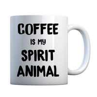 Coffee is my Spirit Animal Ceramic Gift Mug