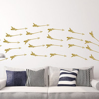 Arrow Wall Decals Vinyl Stickers Decal Bedroom Set of 27 Arrows Indie Boho Decor Bohemian Decoration Mural Home Wall Decor T166