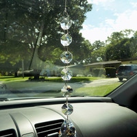 Clear Teardrop Crystal Prism, Crystal Rearview Mirror, Car Charm, Window Decoration, Suncatcher, Light Catcher
