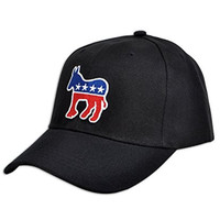 Democrat Donkey & Republican Elephant Black Baseball Cap