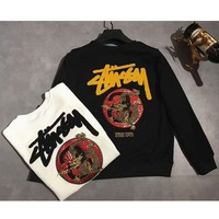 Stussy Long Sleeve Hedging Pullover Sweater Hoodies G-A-XYCL