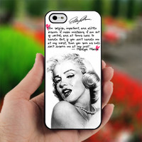 Marilyn Monroe quotes a life - Photo on Hard Cover For iPhone 4/4S