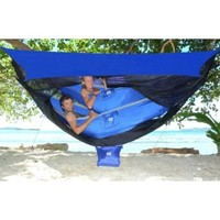 Hammock Bliss Sky Tent 2 - A Revolutionary Tent For 1 or 2 Hammocks Off The Ground - Stay Dry From The Rain, Safe From The Bugs With Ample Space For You And Your Gear!