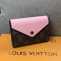 Best Gifts Louis Vuitton LV Women Leather Fashion Purse Wallet