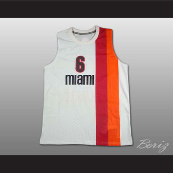 Lebron James 6 Old School Floridians Basketball Jersey Stitch Sewn New