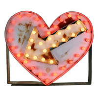 Giant Flashing Heart Carnival Marquee Sign, circa 1960