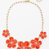 kate spade new york 'graceful floral' frontal necklace