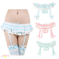 3 Colors Good Quality J-fashion Kawaii Removable Straps Stretch Laces Panties SP130049 from SpreePicky