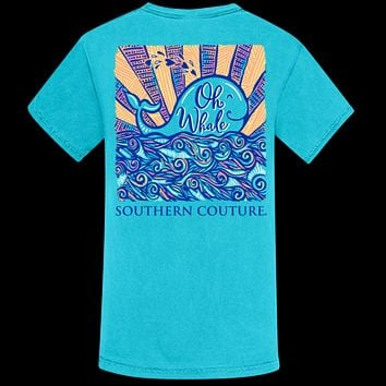 Southern Couture Oh Whale Comfort Colors T-Shirt