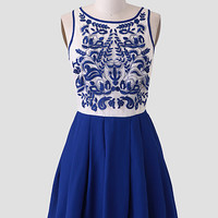 Chateau Fontainebleu Embroidered Dress