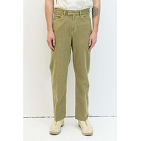 Formal Cut in Khaki Green Brushed Cotton