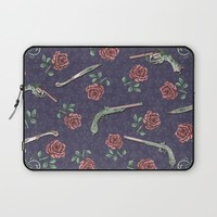 Elegant Guns Knives and Roses Laptop Sleeve by Paula Belle Flores
