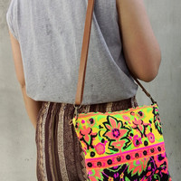 Cross-body Summer bag Colorful Neon Printed Tribal bag Tote bag Canvas Hobo Hippie bag Weekender bag Beach bag Bag Boho Backpack Purse