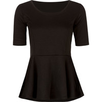 Tresics Womens Peplum Top Black  In Sizes