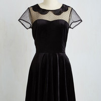 LBD Mid-length Short Sleeves A-line My Usual Haunt Dress