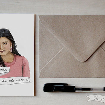 Mindy Lahiri greeting card Valentine's day Mindy Kaling the Mindy Project