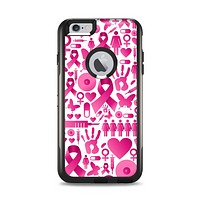 The Pink Collage Breast Cancer Awareness Apple iPhone 6 Plus Otterbox Commuter Case Skin Set