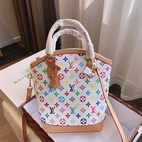 LV Louis Vuitton color printed letters handbag shoulder bag