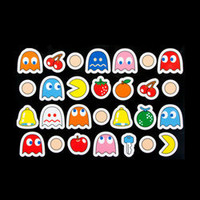 Pac Man Fridge Magnets - 28 officially licensed pac man magnets - LatestBuy Australia