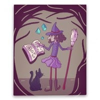 Witch Consults Her Spellbook