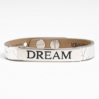 Good Work(s) Make A Difference 'Life Inspiration' Leather Bracelet