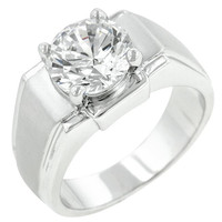 Regal Mens Cubic Zirconia Ring, size : 12