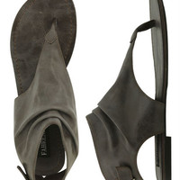Back Buckle Leatherette Sandal   Shop Clearance at Wet Seal