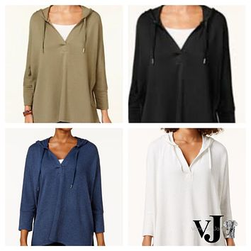 Style and Co Oversized Dolman-Sleeve Hoodie,  Various Sizes, Colors
