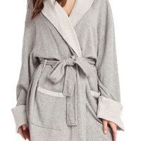 Sweatshirt Knit Robe in Heather Gray
