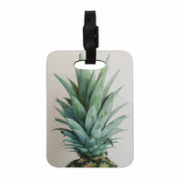 """Chelsea Victoria """" The Pineapple"""" Green Gold Decorative Luggage Tag"""