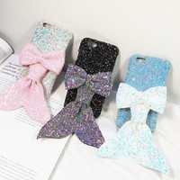 Mermaid Bling Phone Cases for iphone 6 6s for iphone 6 6s plus in Pink, Purple and Blue Color