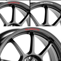 YONGXUN 4pcs/set Quattro Mounting Rims Alloy Wheel Decals Stickers for Audi A4L A5 A6 A7 RS5 RS6 RS7 RS Q3