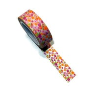 Pink and Orange Floral Washi Tape