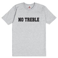 No Treble-Unisex Dark Ash T-Shirt