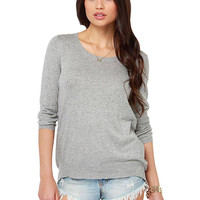 Grey Jumper with Wrap back