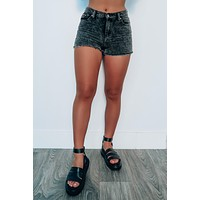 Drift Away Shorts: Black