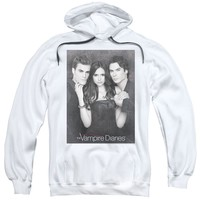 Vampire Diaries - That Was Then Adult Pull Over Hoodie