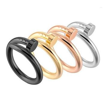 Nail Ring - Stainless Steel