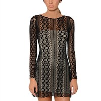Betsy Moss Madison Long Sleeve Lace Dress | ShopAmbience